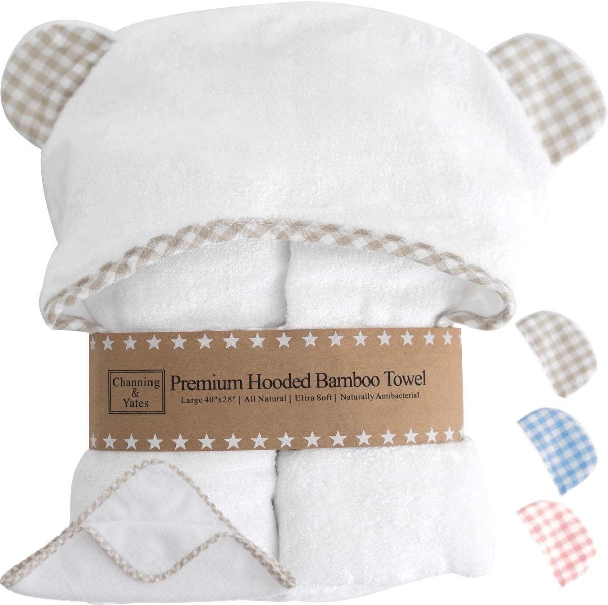 Channing & Yates Hooded Bamboo Baby Bath Towel