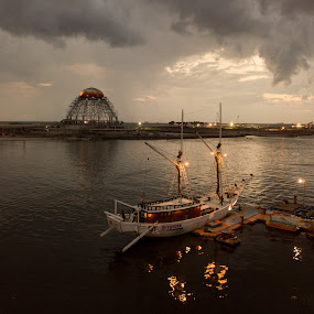 Pinisi by Irfan Firdaus - Transportation Boats ( travel photography, traditional, nature, landscape, low light,  )