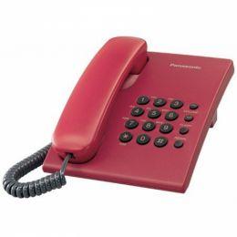 Panasonic - jednolinkový telefon červený