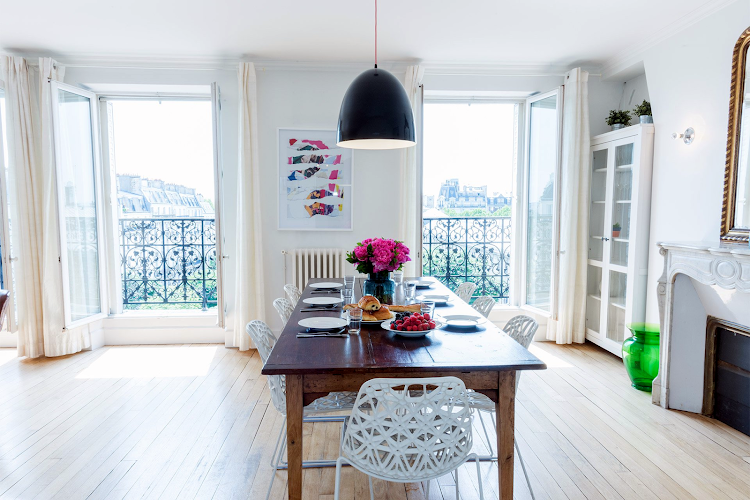 Dining space at Mondeuse Apartment