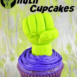 Homemade Hulk Cupcakes.