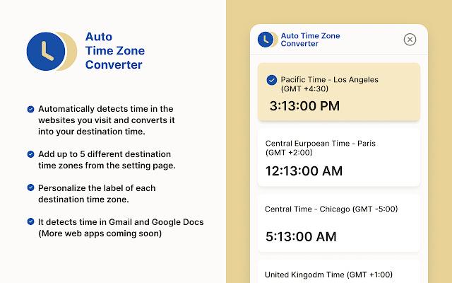 Auto Time Zone Converter