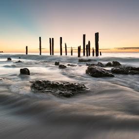 Port Willunga Beach Ruins by Mark Anolak - Landscapes Beaches (  )