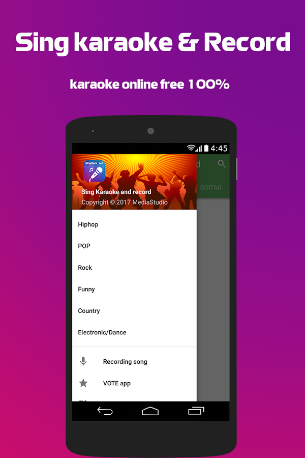 Screenshots of Sing karaoke & record for iPhone