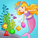 Link Jewels Mermaid - Gems Match 3 Jigsaw Puzzle icon