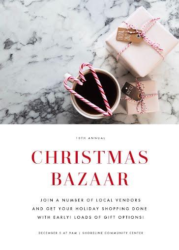 Christmas Bazaar - Christmas Card Template