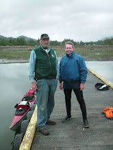 Photo: Mike Lemon and me on the dock in Oona River.