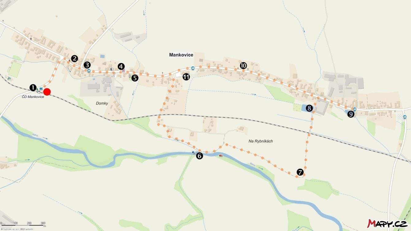 Mankovický okruh (pěší 6km)