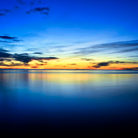 goodbye mr. sunset,see you soon by Andrian Andrew - Novices Only Landscapes ( blue, sunset, malaysia, beach, bintulu, sarawak )