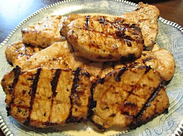 Pineapple Marinated Grilled Pork Chops