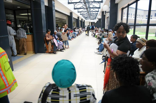 Patients queue at Chris Hani Baragwanath Academic Hospital in Johannesburg. The facility has an annual budget of R3bn budget and 6,000 employees.