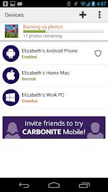 Carbonite Mobile Screenshot 2
