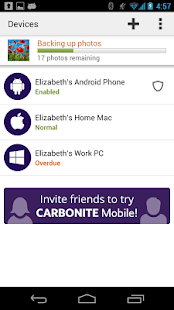 Carbonite Mobile- screenshot thumbnail