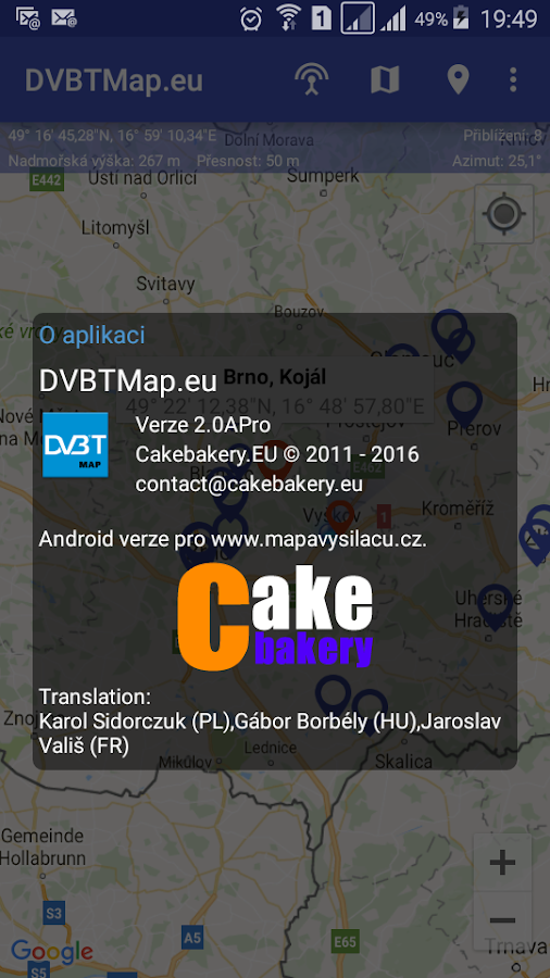 DVBTMap.eu- screenshot