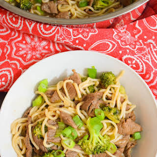 Keto Beef and Broccoli Lo Mein.