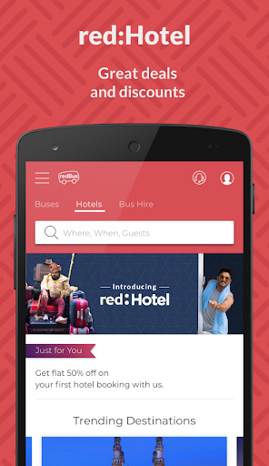 redBus - Online Bus Ticket Booking, Hotel Booking for PC