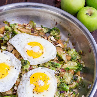 Apple Brussels Sprouts Hash.