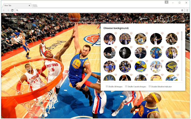 Get this NewTab HD Themes to enjoy basketball wallpapers in every new tab - made for fans of the NBA league and the All-Stars Game.