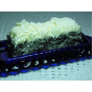 Yogurt Poppy Seed Cake With Whipped White Chocolate Ganache