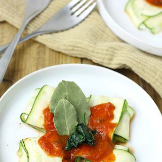 Spinach & Ricotta Stuffed Zucchini Ravioli