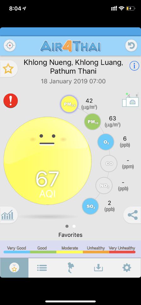Air4Thai アプリの表示例