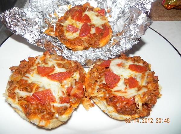 Nana's Pizza Burgers Recipe