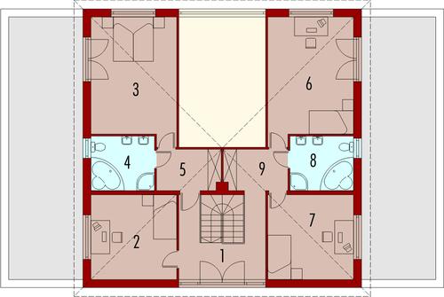 Henia G2 - Rzut piętra