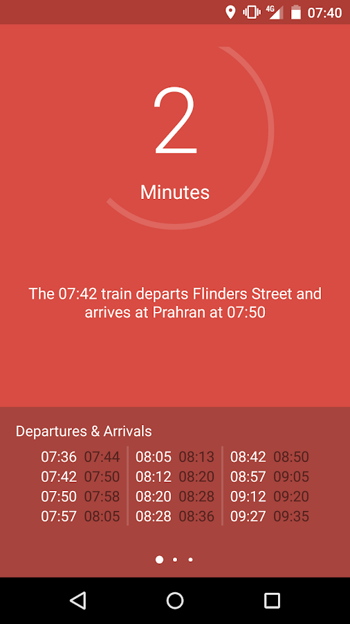 Go - Melbourne Train Timetable- screenshot