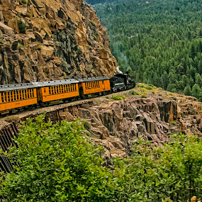 Comin' 'Round The Mountain by Sandy Friedkin - Transportation Trains ( passenger, mountains, durango-silverton, railroad, train,  )