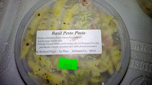 Label, 8 oz. Basil Pesto Pasta