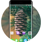 Theme for cone spruce blurry plant wallpaper icon