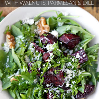 Roasted Beet Salad with Parmesan and Dill