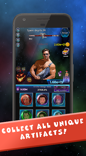 Gachi in Space: IDLE RPG screenshot 3