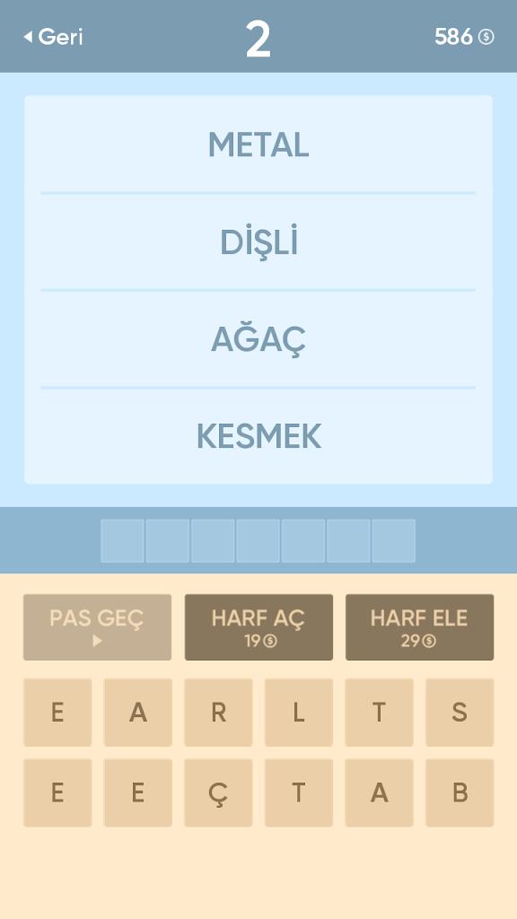 ڈاؤن لوڈ ، اتارنا Resimsiz Kelime Bulmaca Apk android ڈاؤن لوڈ کے لئے -  تازہ ترین ورژن