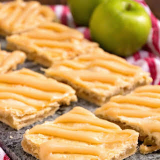 Apple Bars with Caramel Frosting.