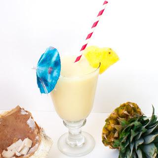Fresh Coconut Pina Coladas.