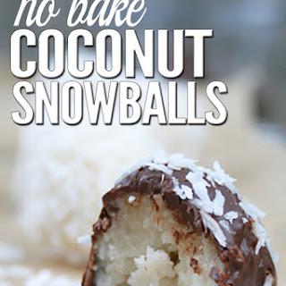No Bake Coconut Snowballs (GF).
