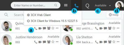 De 3CX Web Client in actie