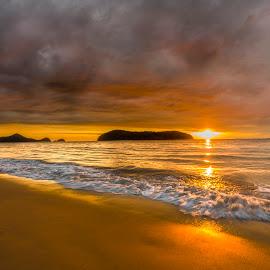 Golden Sunset by Mann Renzef - Landscapes Sunsets & Sunrises ( sunset, landscape )