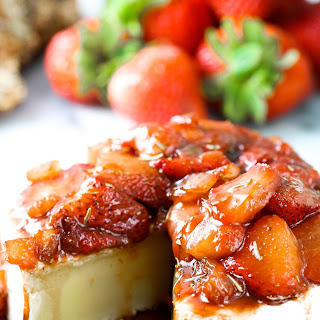 Easy Brie Appetizer Topped with California Strawberries