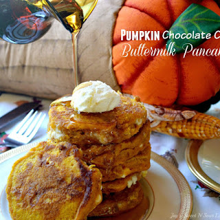 Pumpkin Chocolate Chip Buttermilk Pancakes