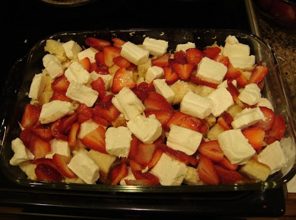 Add the other 3/4 C of sliced strawberries.