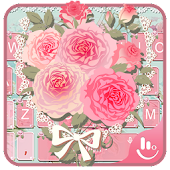 Pink Flower Keyboard Theme