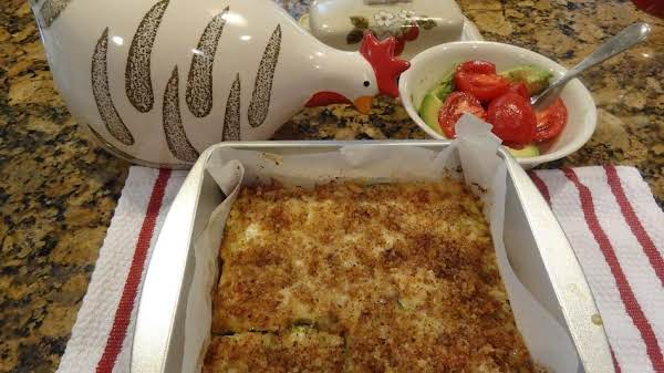 Bonnie's Zucchini With Cheese And Sauteed Onions