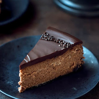 Chocolate Mascarpone Cheesecake.