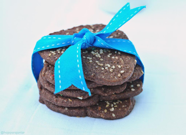 Chocolate and Almond Biscuits Recipe