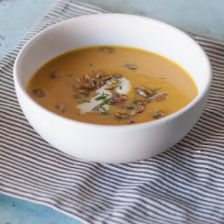 Roasted Heirloom Squash and Tart Apple Soup.
