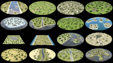 Photo: All of the random maps included with Alpha 9. Most of them new and created by Wildfire Games team member Omid (aka Spahbod). The Islands map by Howlingflute.
