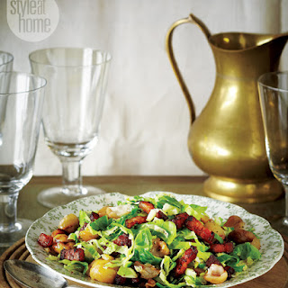 Brussels Sprouts With Chestnuts & Bacon.