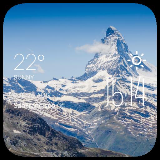 Oujda weather widget/clock